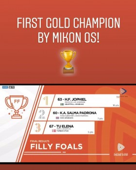 H.F. JOPHIEL BY MIKON OS - UNANIMOUS GOLD MEDAL FILLY!