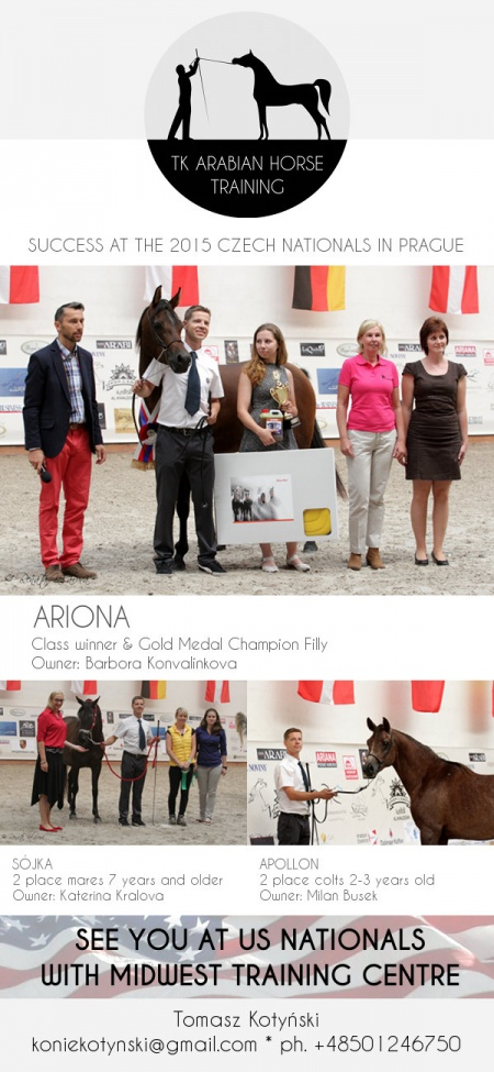 ARIONA - Gold Medal Champion Filly Czech National Show 2015